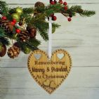 Remembrance Loved Ones Memorial Personalised Christmas Heart Decoration Gift